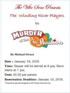 Murder Mystery Dinner Theater @ Villa Sena | Towanda | PA | United States